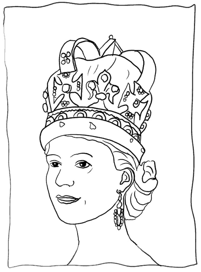 Queen Coloring pages 🖌 to print and color
