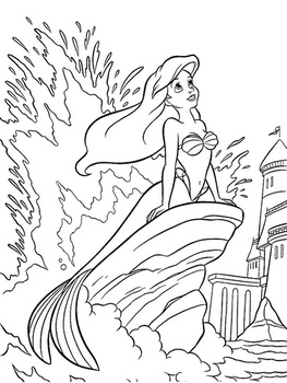 ariel coloring pages 🖌 to print and color