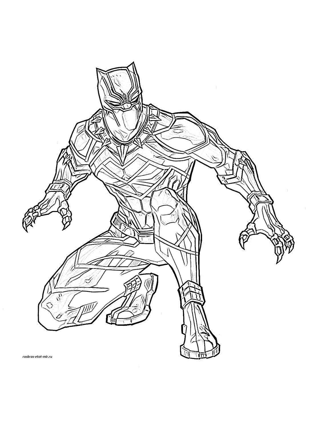 Black Panther Coloring pages 🖌 to print and color