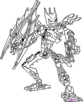 lego bionicle coloring pages 🖌 to print and color