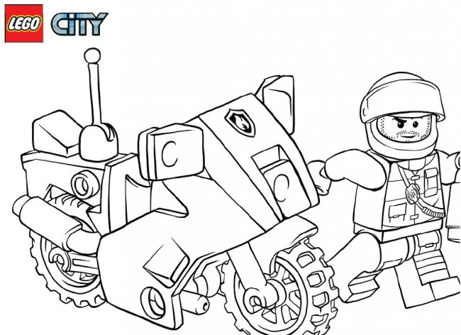 - Lego Police Coloring Pages 🖌 To Print And Color