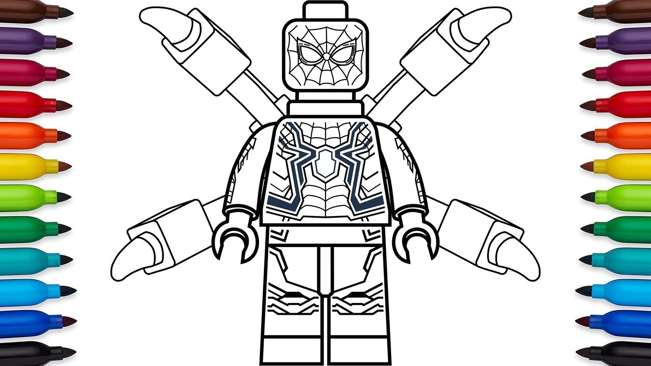 Lego Spiderman Coloring pages 🖌 to print and color