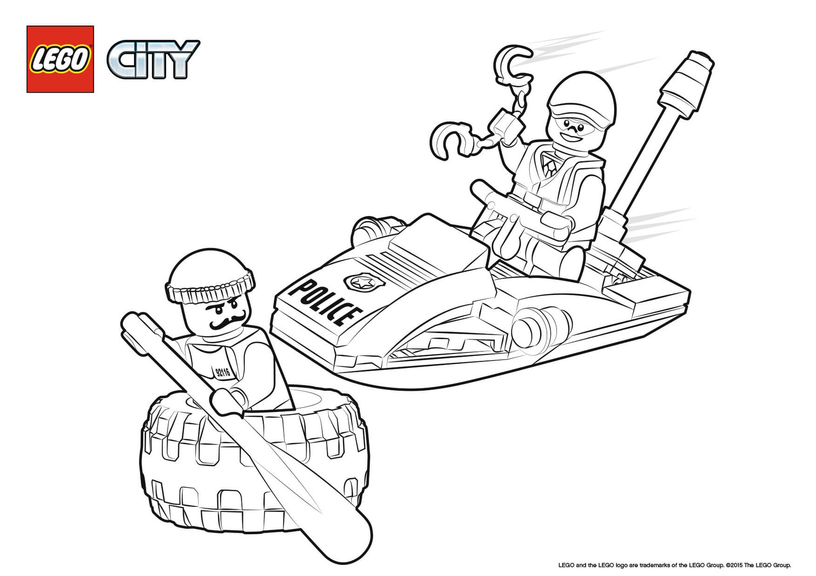 Lego city Coloring pages 🖌 to print and color