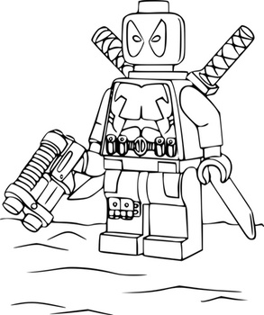 Lego deadpool Coloring pages 🖌 to print and color