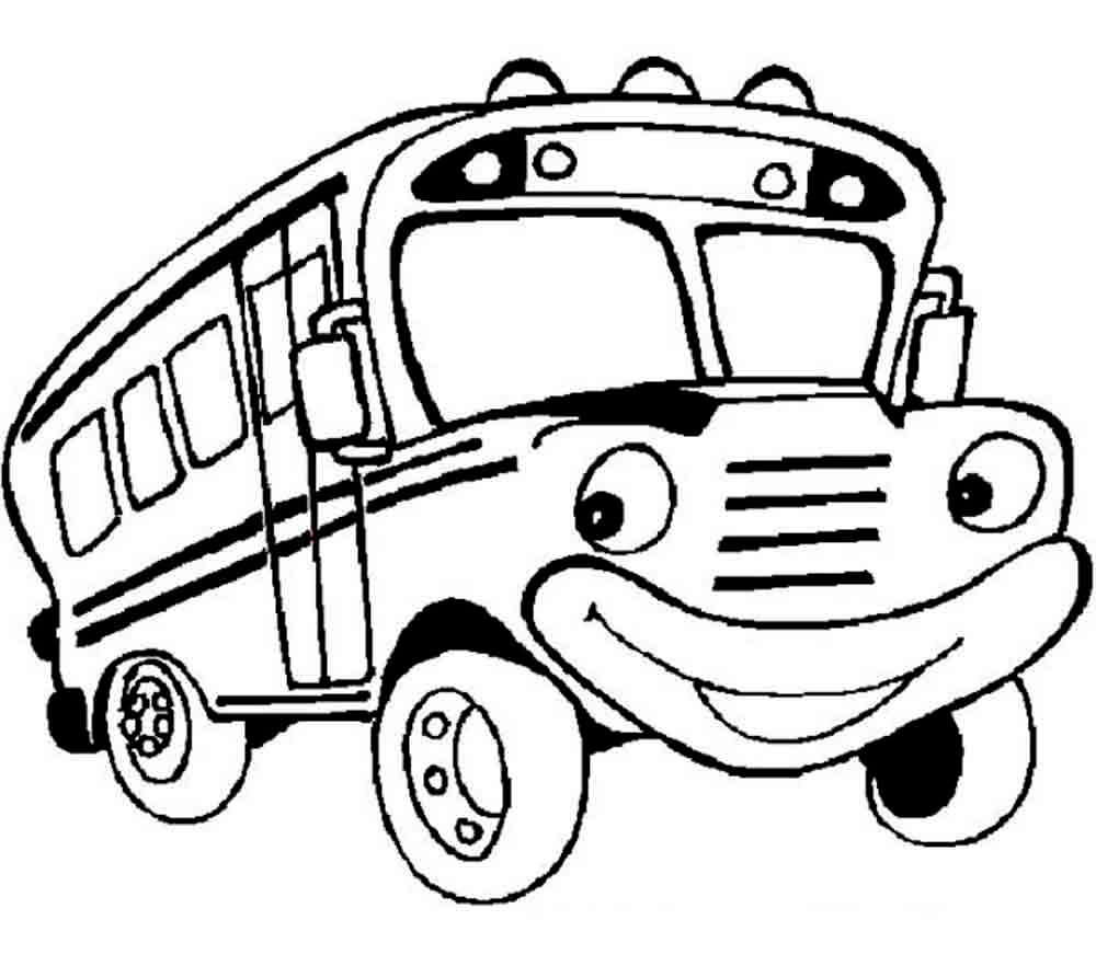Bus Coloring Pages To Print And Color