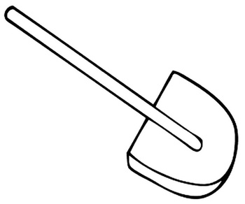 Shovel Coloring pages 🖌 to print and color